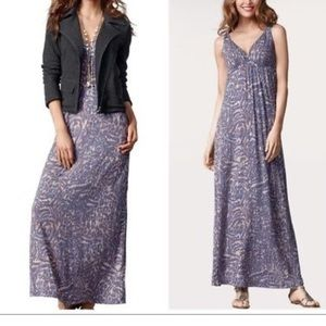 CABI purple maxi dress small